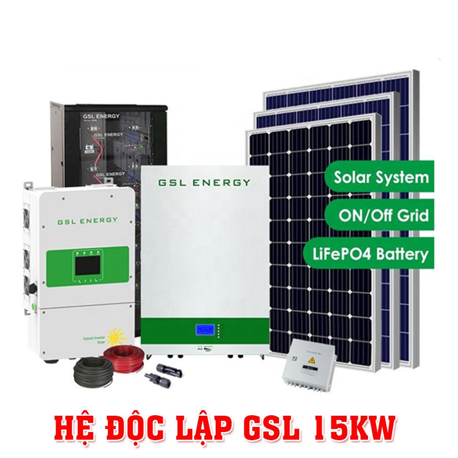 Bộ máy phát điện GSL 15KW xài năng lượng mặt trời