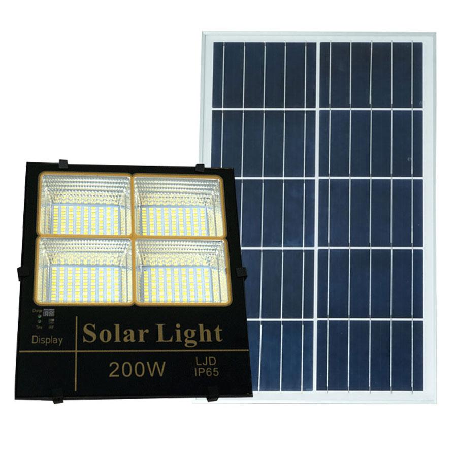 Đèn pha năng lượng mặt trời 200W 3 chế độ màu cao cấp P3M-200W ánh sáng vàng-trung tính-trắng