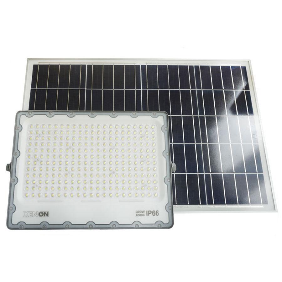 Đèn pha năng lượng mặt trời 300W cao cấp Xenon Deluxe DL-300W chiếu sáng liên tục trên 16h